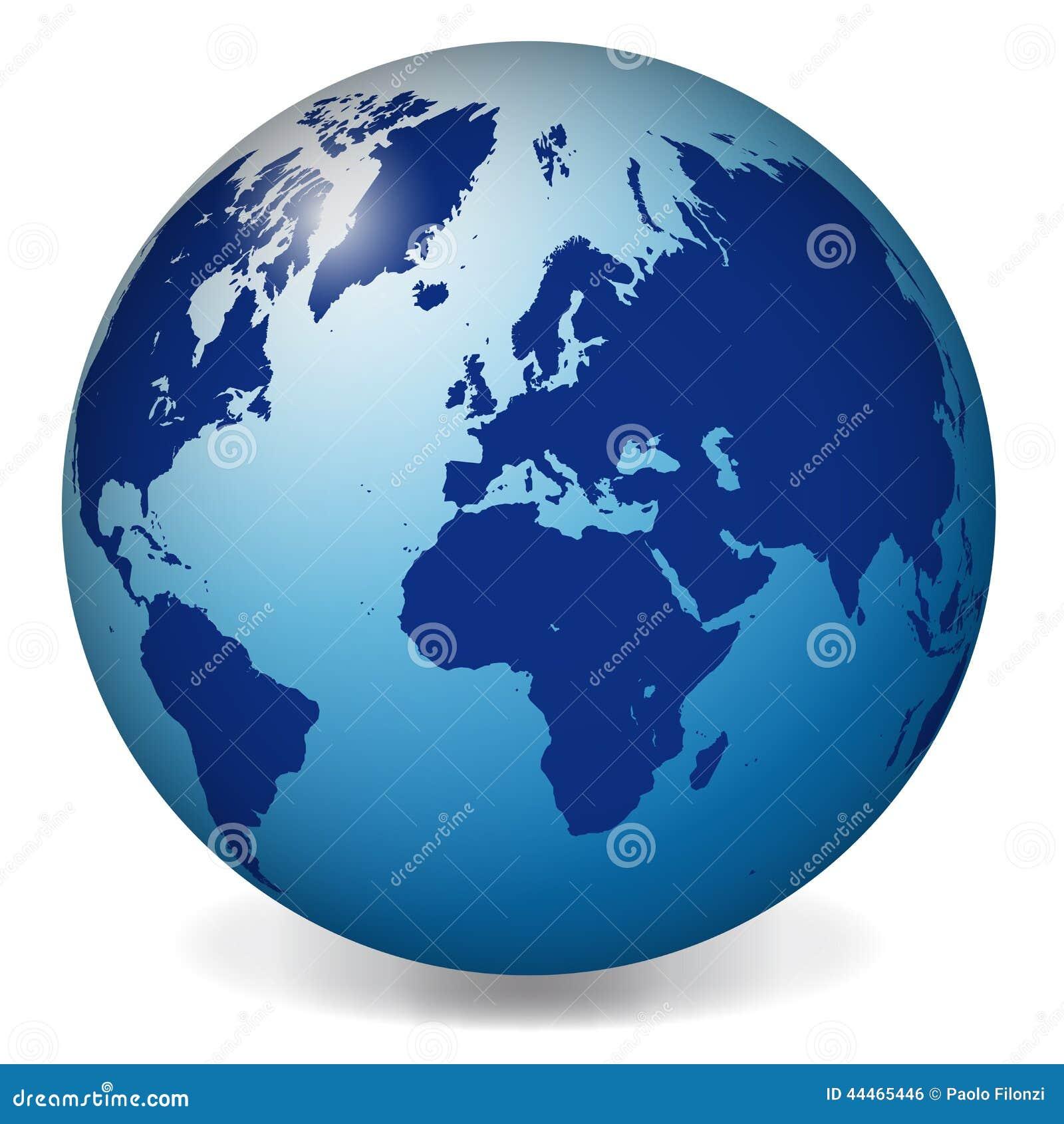 Blue world globe map stock vector illustration of activity 44465446 blue world globe map gumiabroncs Choice Image