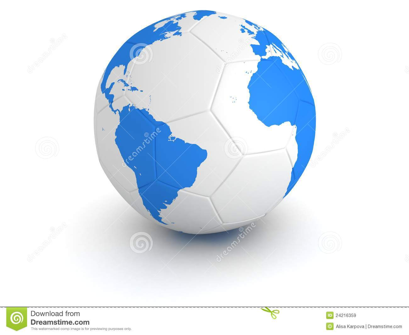 Blue world globe map on white soccer ball stock illustration blue world globe map on white soccer ball gumiabroncs Image collections