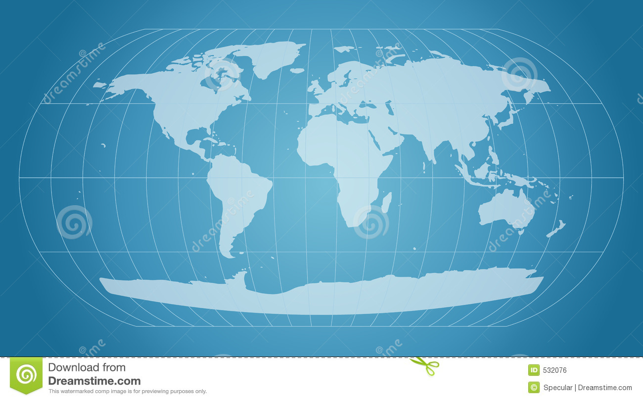 Blue world map stock vector illustration of cartography 532076 blue world map royalty free stock photo gumiabroncs Images