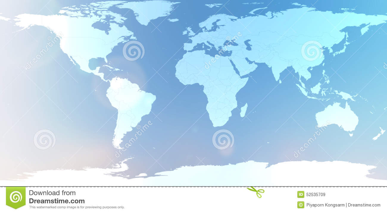 Blue world map in blurred background sky abstract stock image royalty free stock photo gumiabroncs Images