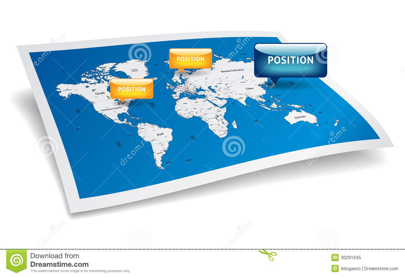 World map with gps marks stock vector illustration of blue 30291045 world map with gps marks royalty free stock photo gumiabroncs Image collections