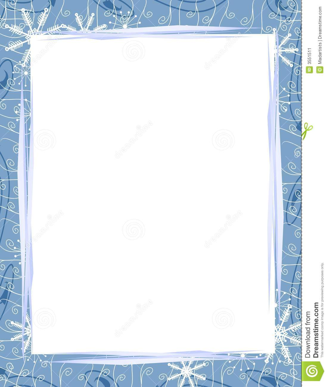 background border or frame of casually arranged paper, Christmas ...