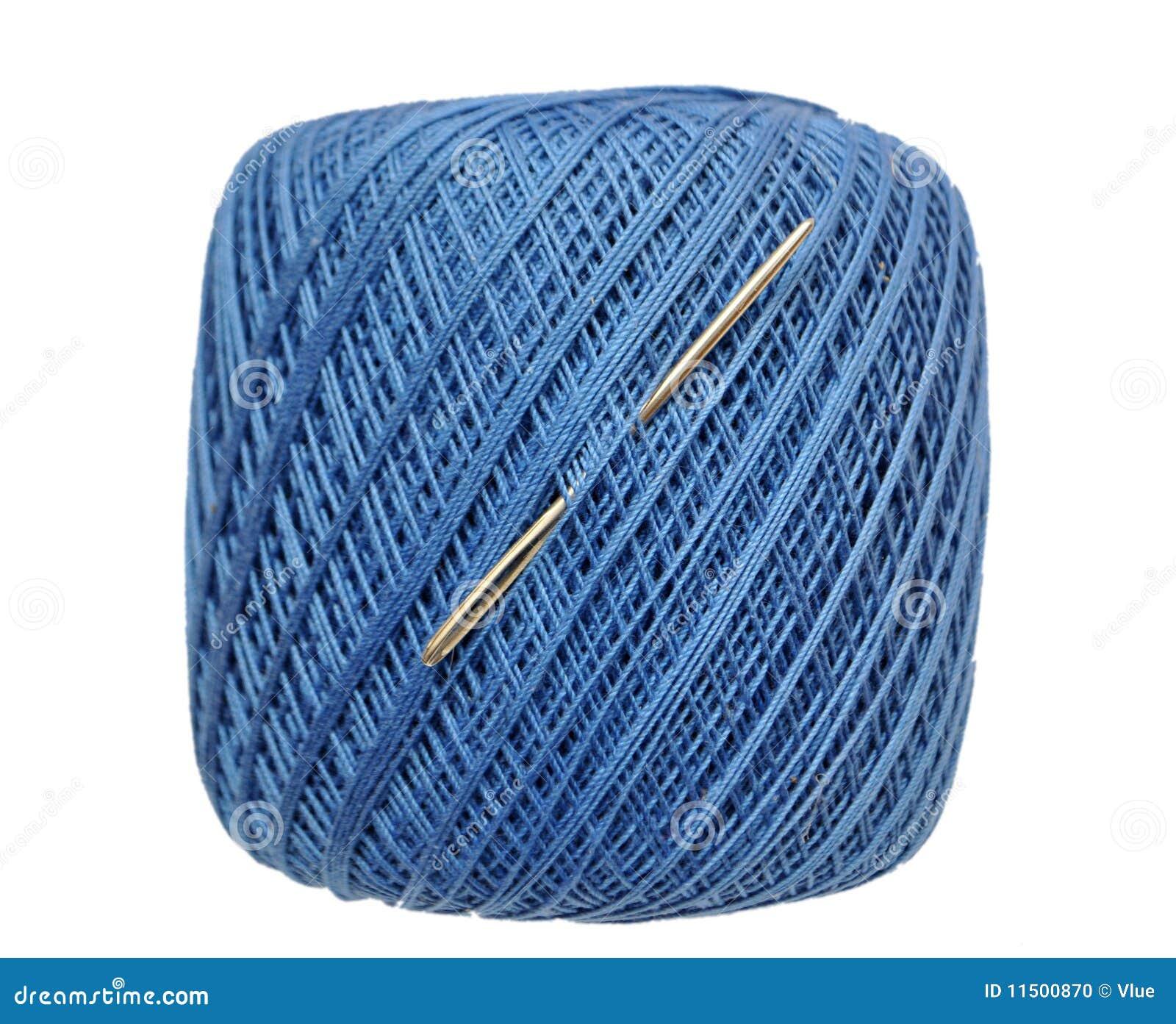 blue yarn spool stock photo image of loop bundle cotton 11500870