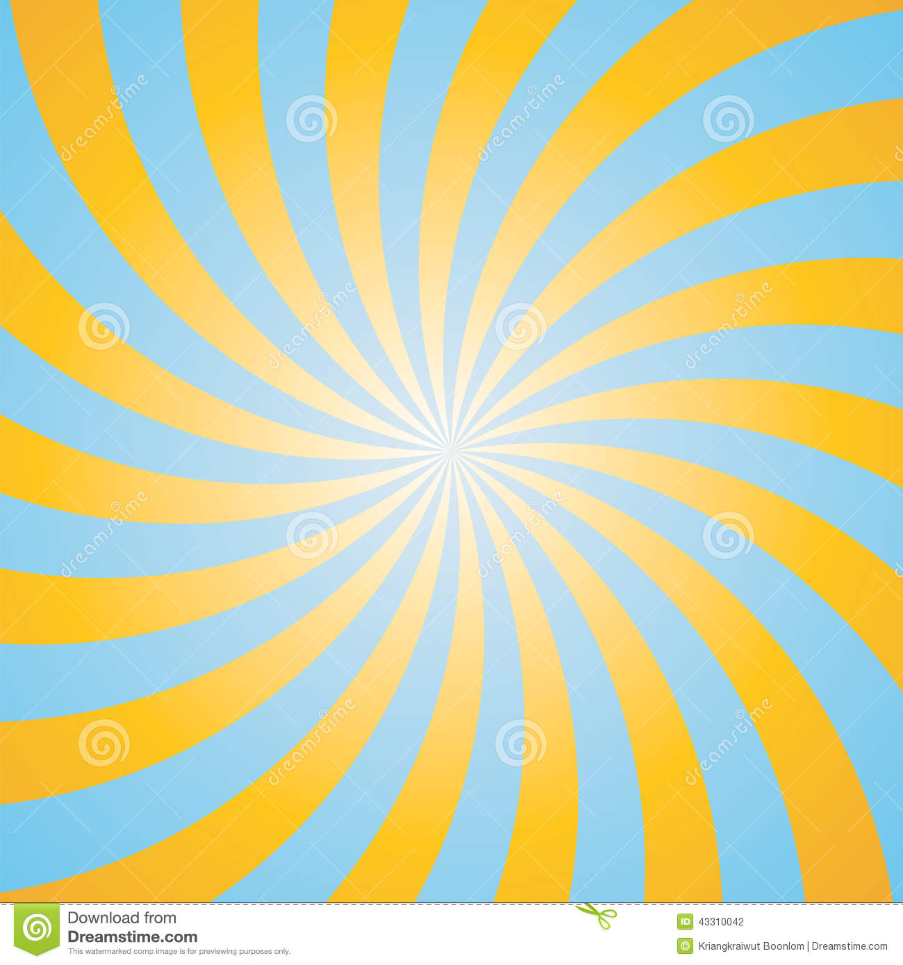 Blue And Yellow Color Burst Background Stock Vector