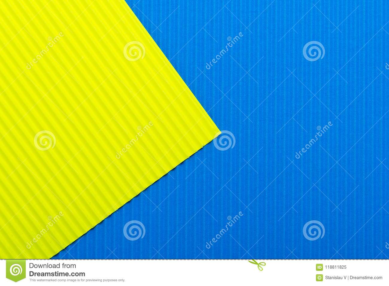 Blue and yellow color paper texture background. Trend colors, geometric paper background.