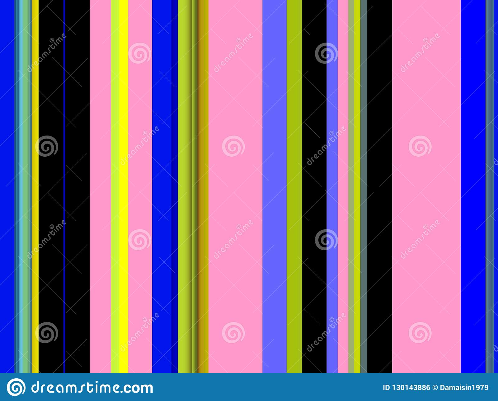 Blue yellow green black pink lines background, abstract colorful geometries