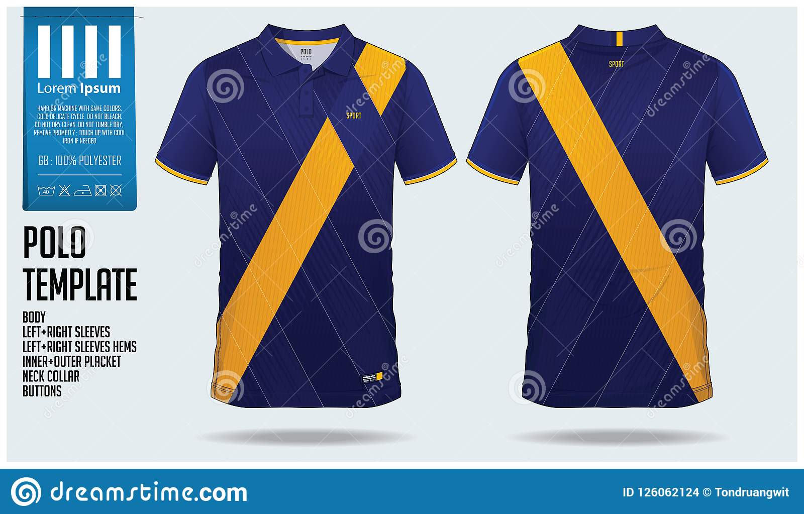 Polo T Shirt Sport Design Template For Soccer Jersey ...