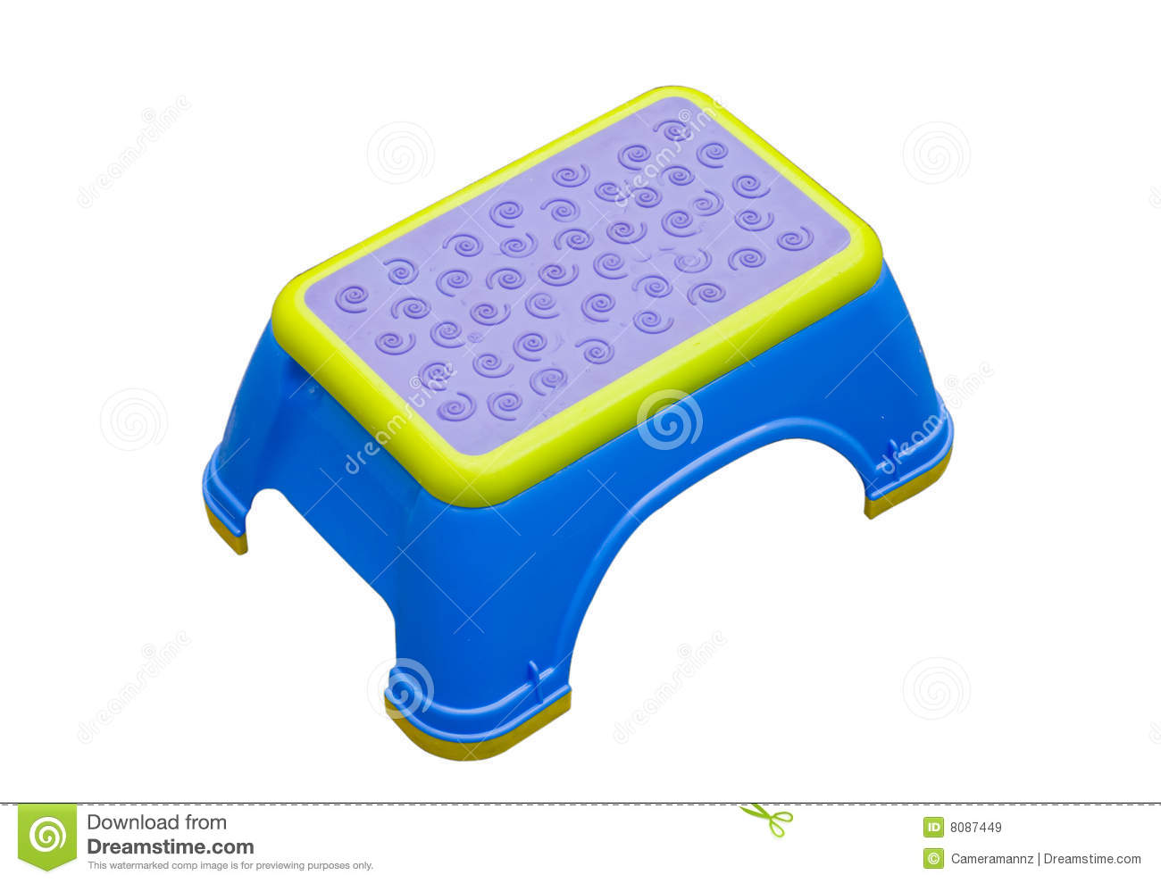 Blue And Yellow Small Stool Stock Image Image Of