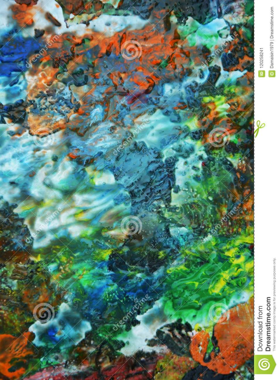 Blue Yellow Soft Green White Purple Bright Mix Colors, Painting ...