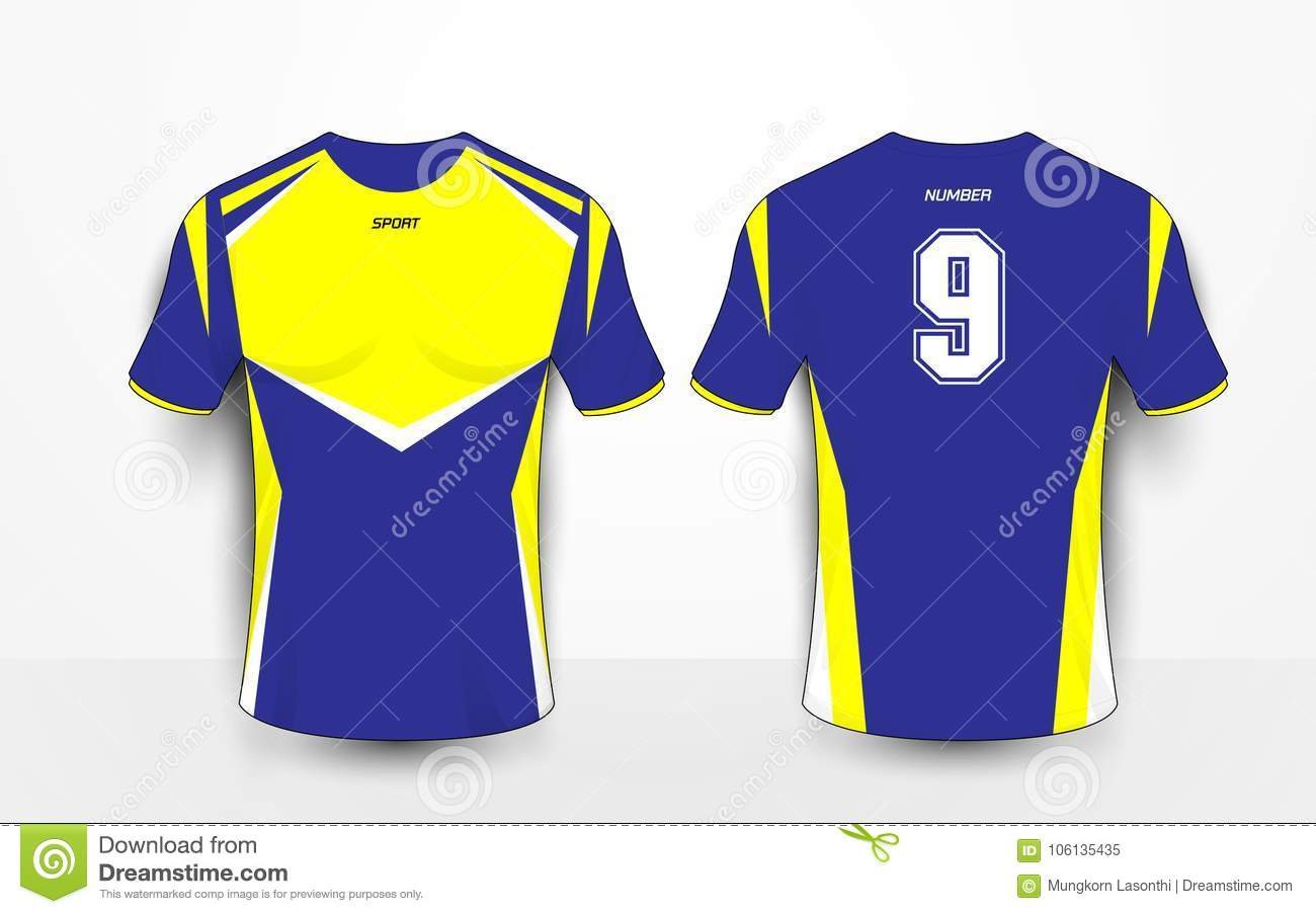 c05b8a04603 Blue And Yellow Sport Football Kits