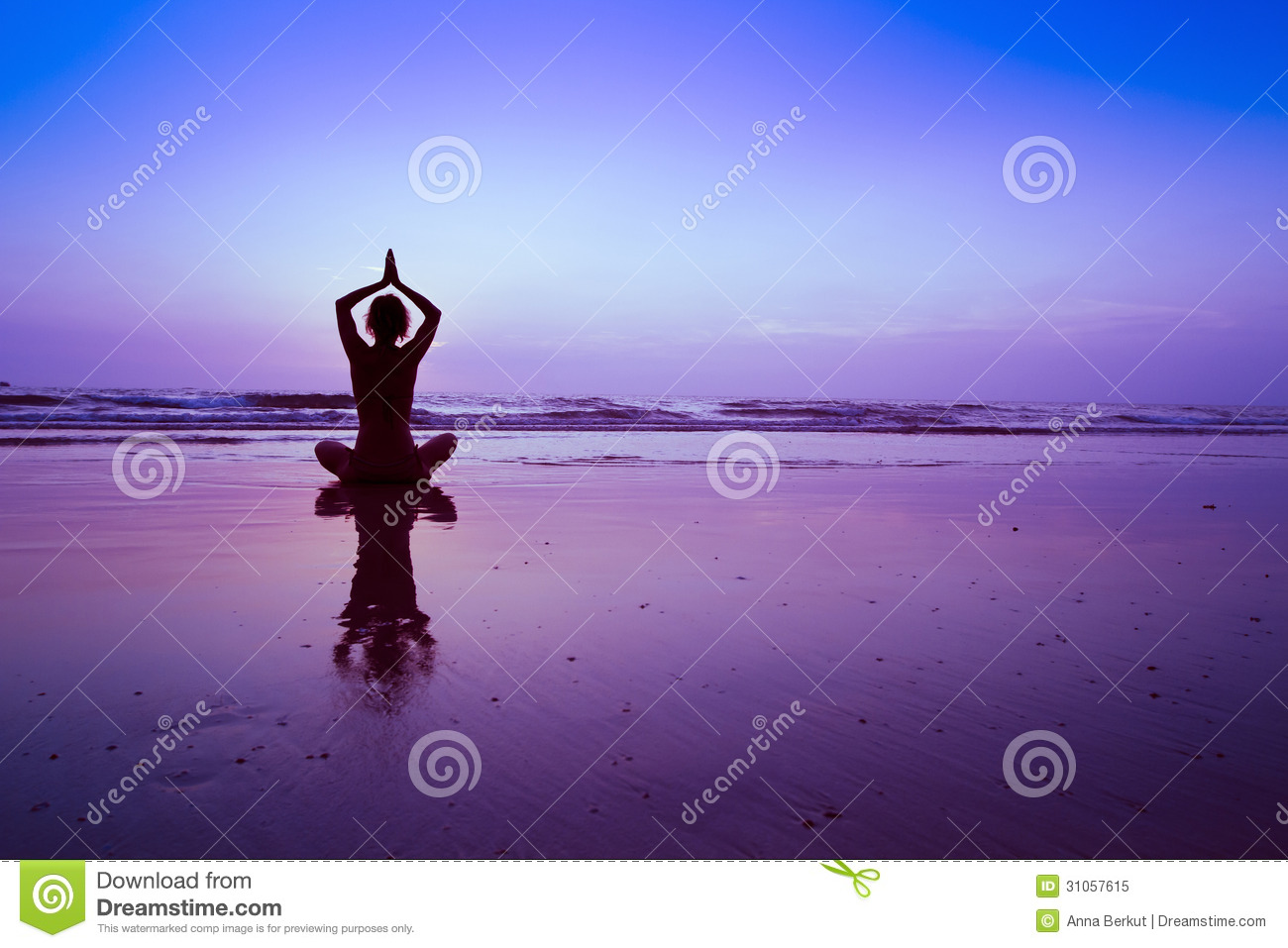 Blue yoga background