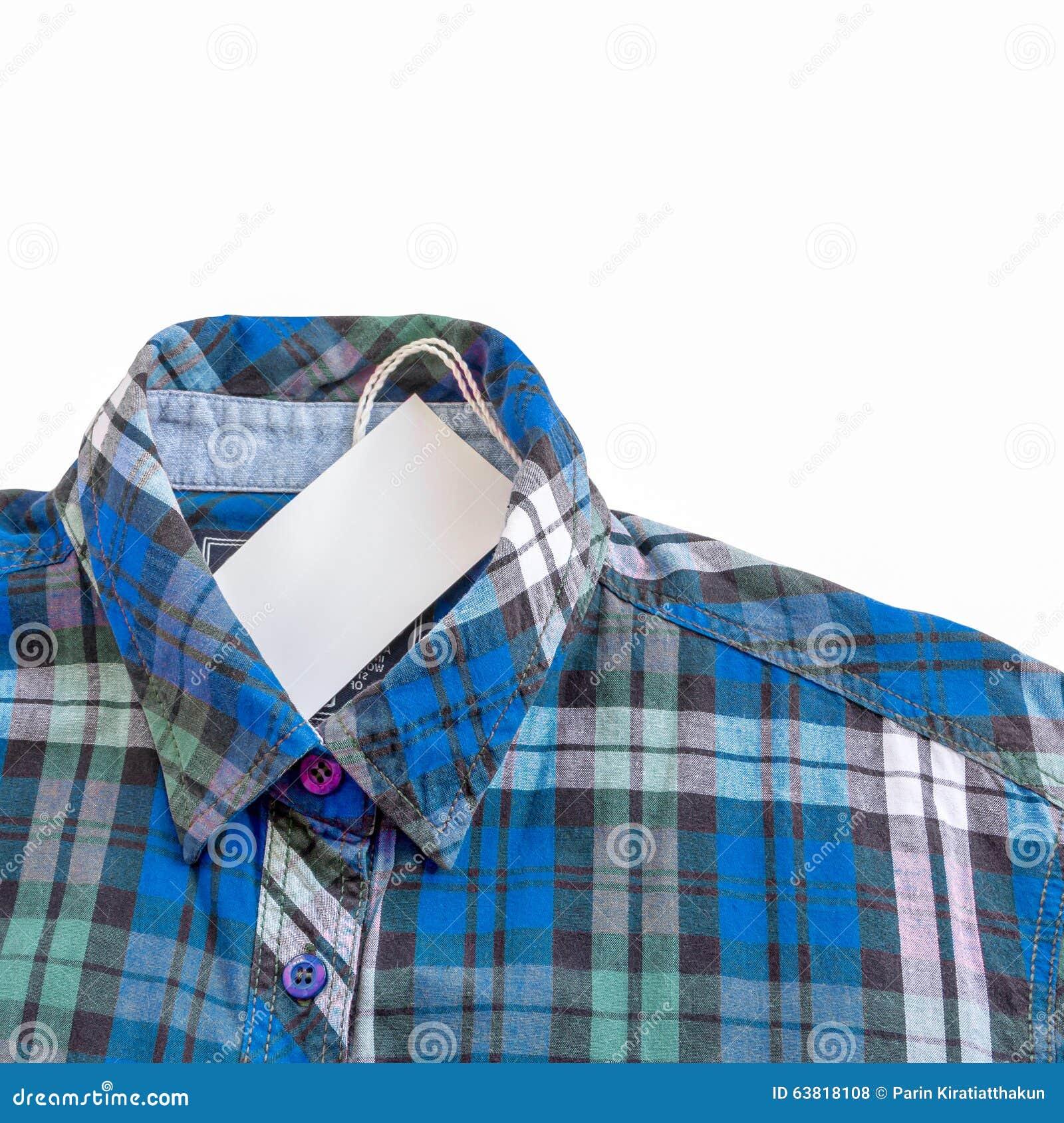 Zinc shirt design - Blue Zinc Texture Plaid Shirt On White