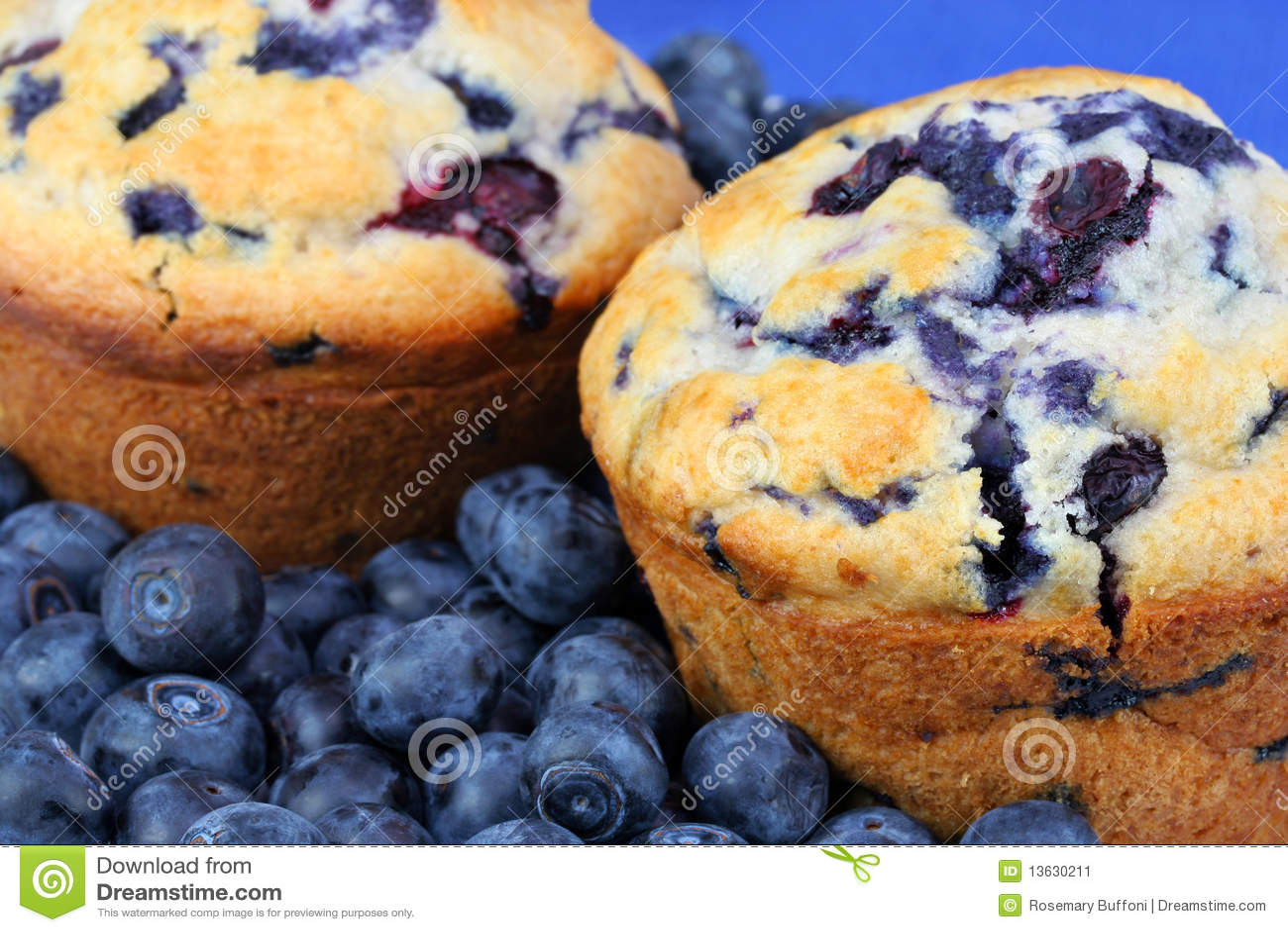 Blueberrie czarnej jagody świezi muffins