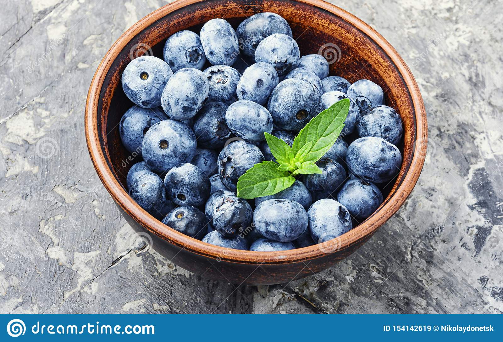 Berries Blueberries Or Bilberry Stock Image - Image of ...