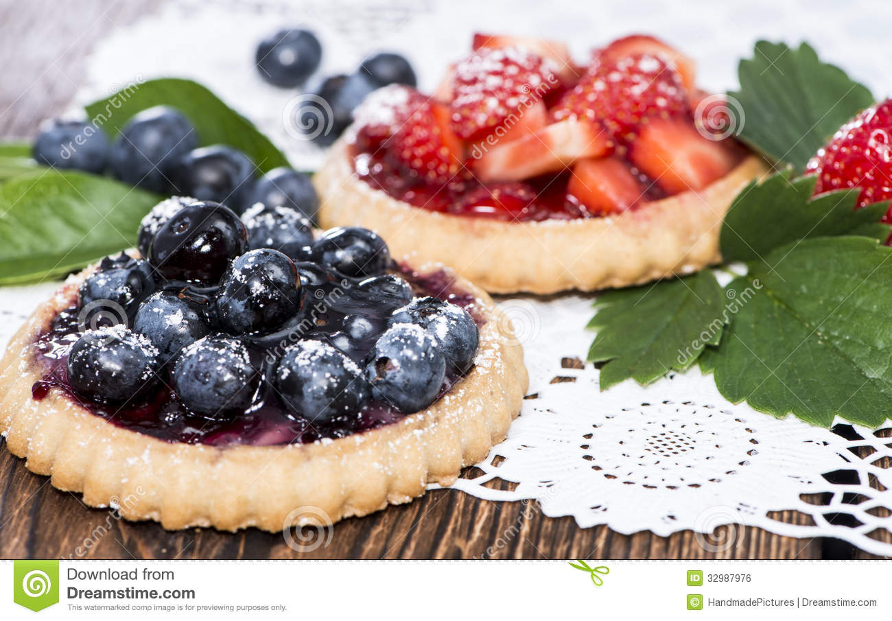 Blueberry And Strawberry Tart Royalty Free Stock Image - Image ...