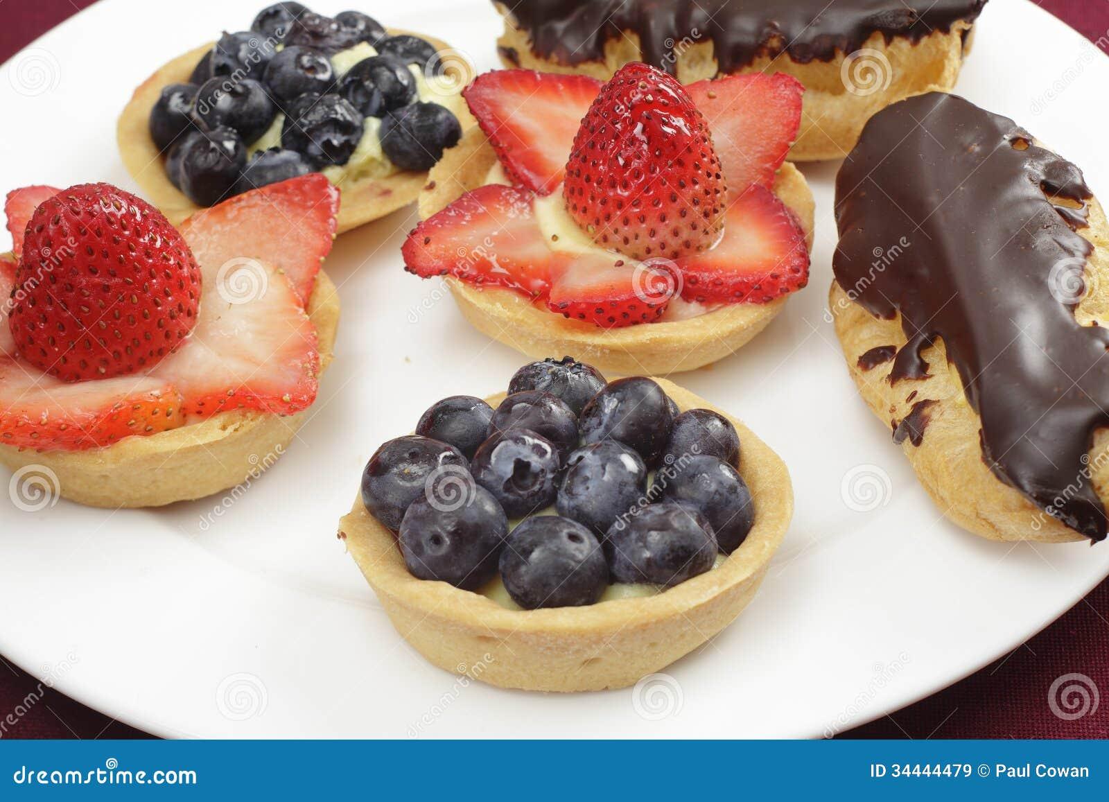 Strawberry And Blueberry Tarts Recipes — Dishmaps