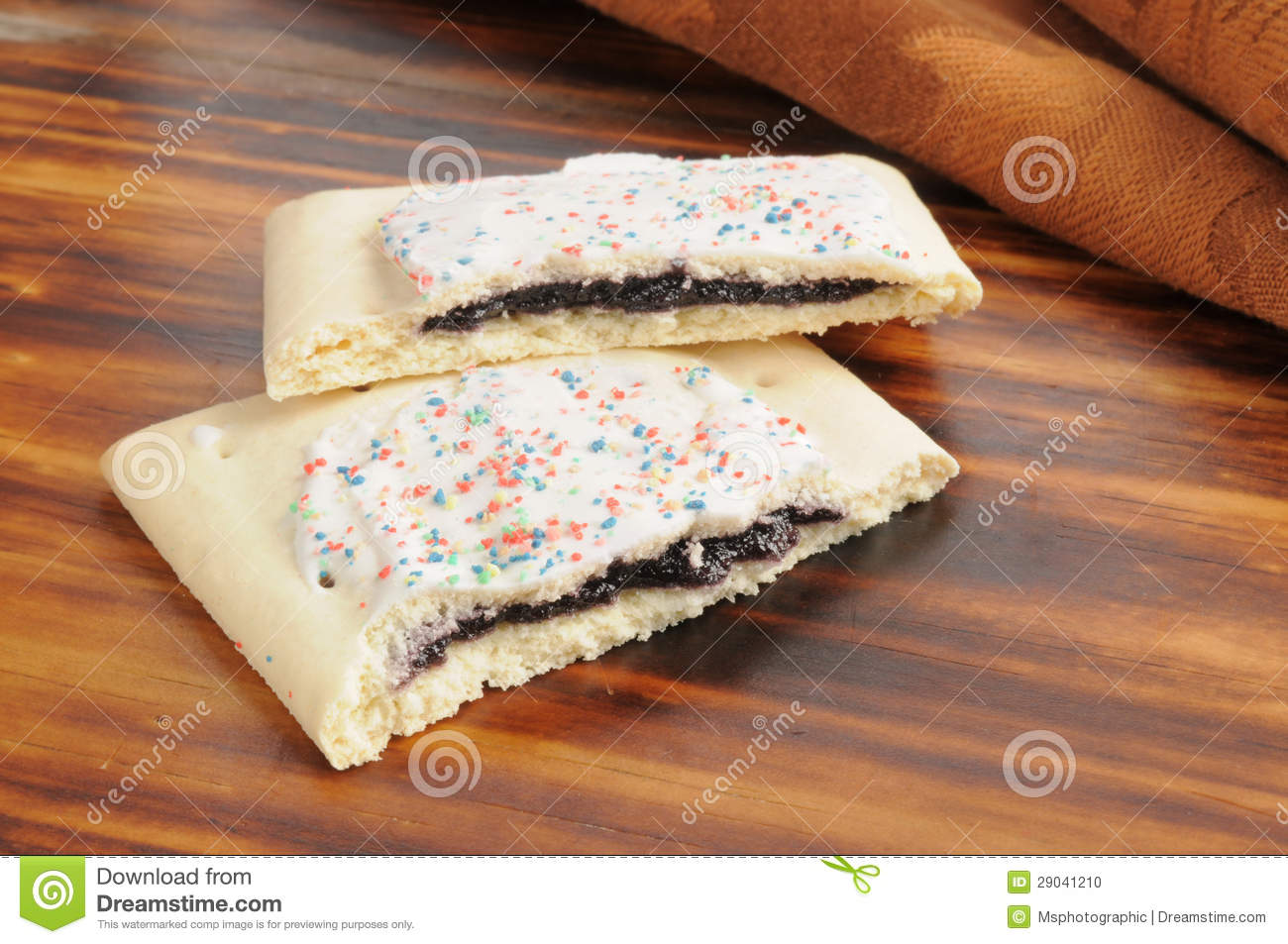 Blueberry Toaster Tarts Stock Photo - Image: 29041210