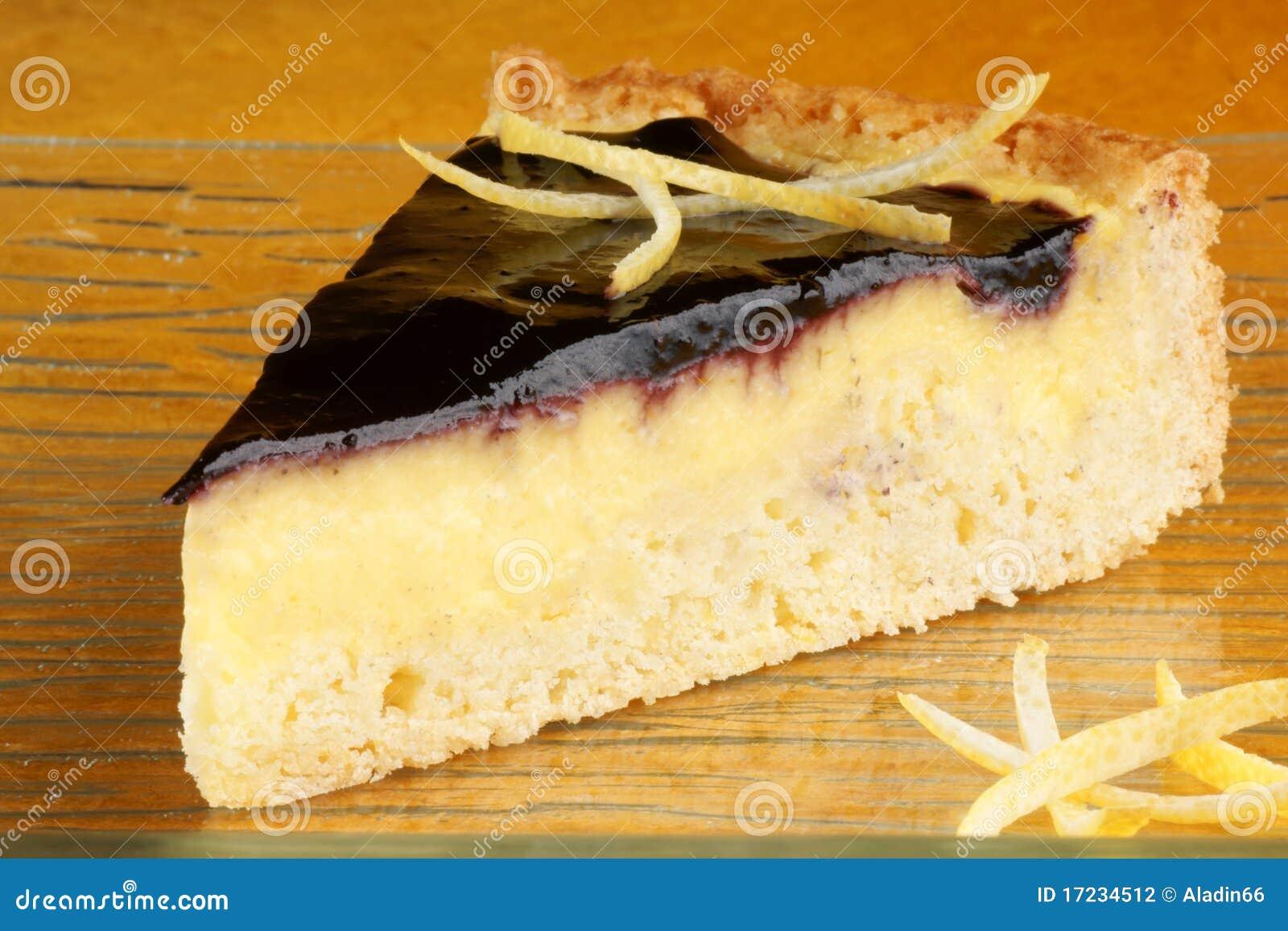 Blueberry Vanilla Custard Cake