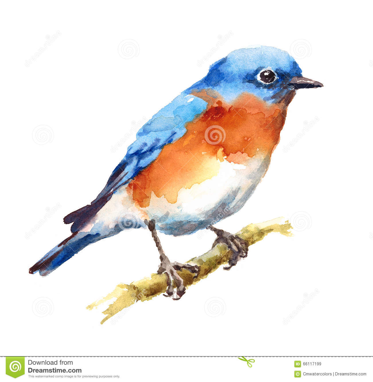 Blue Robin Painting