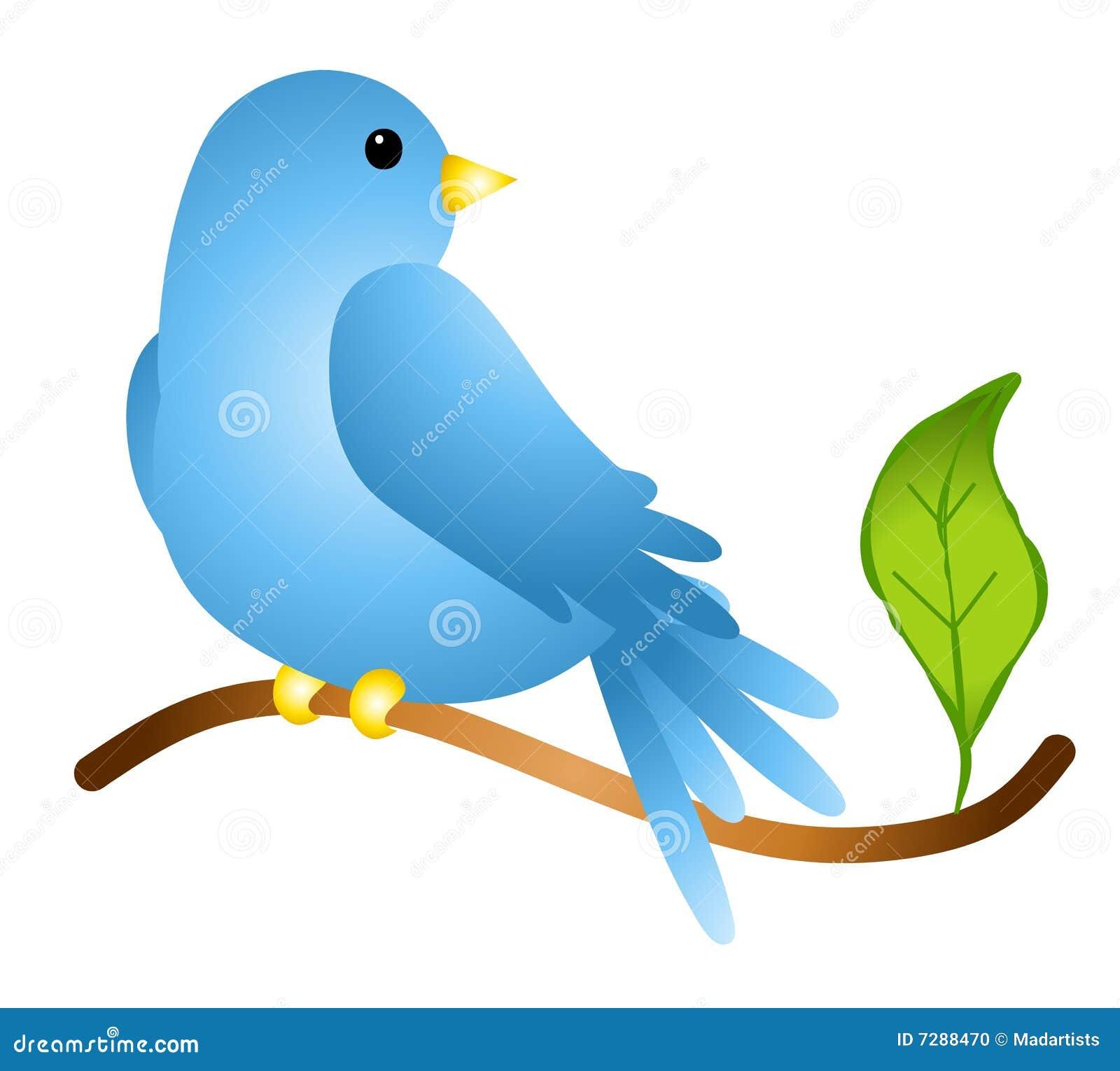 Bluebird en una ramificación