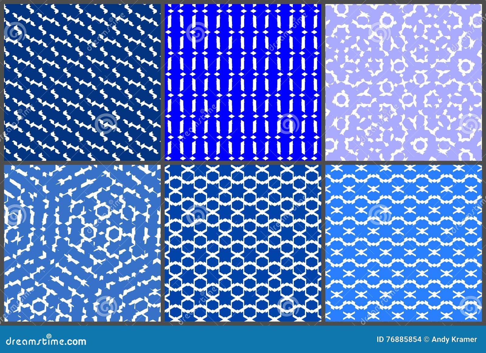 Blueish wzoru set
