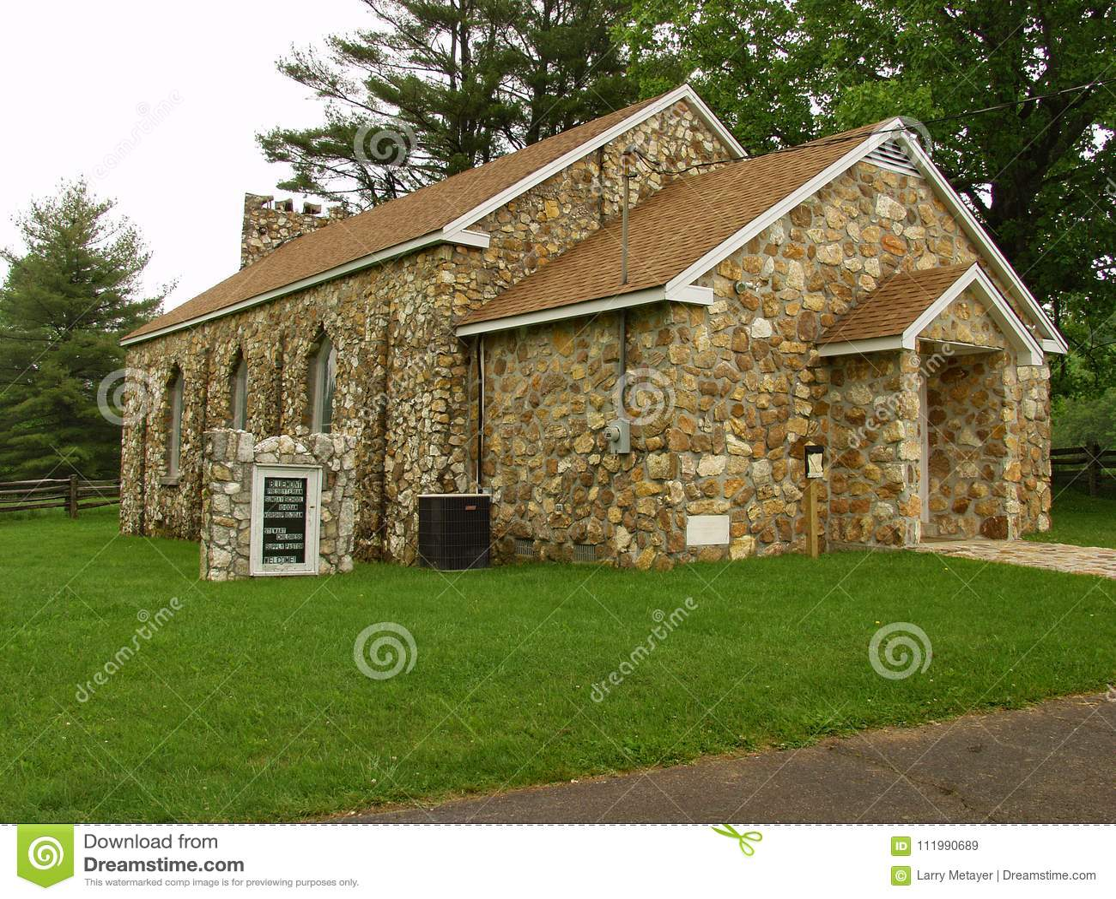 Bluemont presbyterianska kyrkan - sidosikt