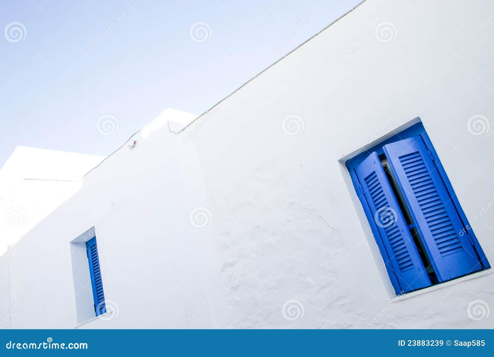 Bluen details fönster för greece öserifos