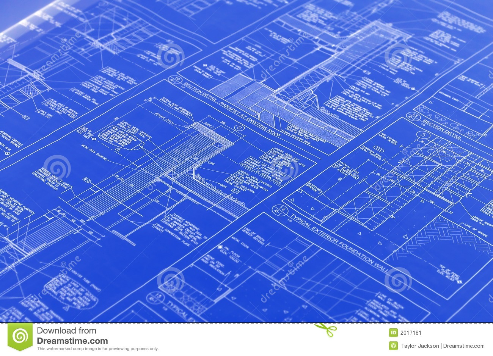 a blueprint stock image  image of dwelling  construction