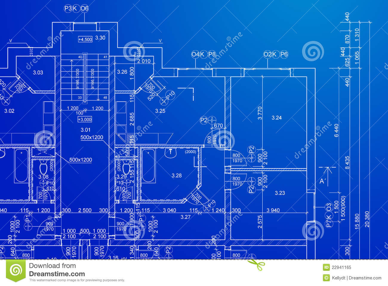 Blueprint stock image image of drafts dimensions building blueprint malvernweather Image collections