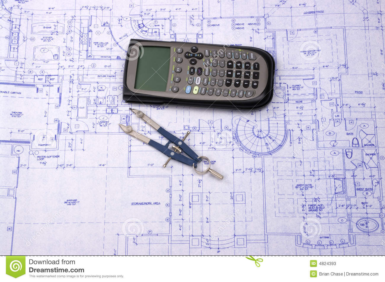 Blueprint Stock Photos Image 4824393