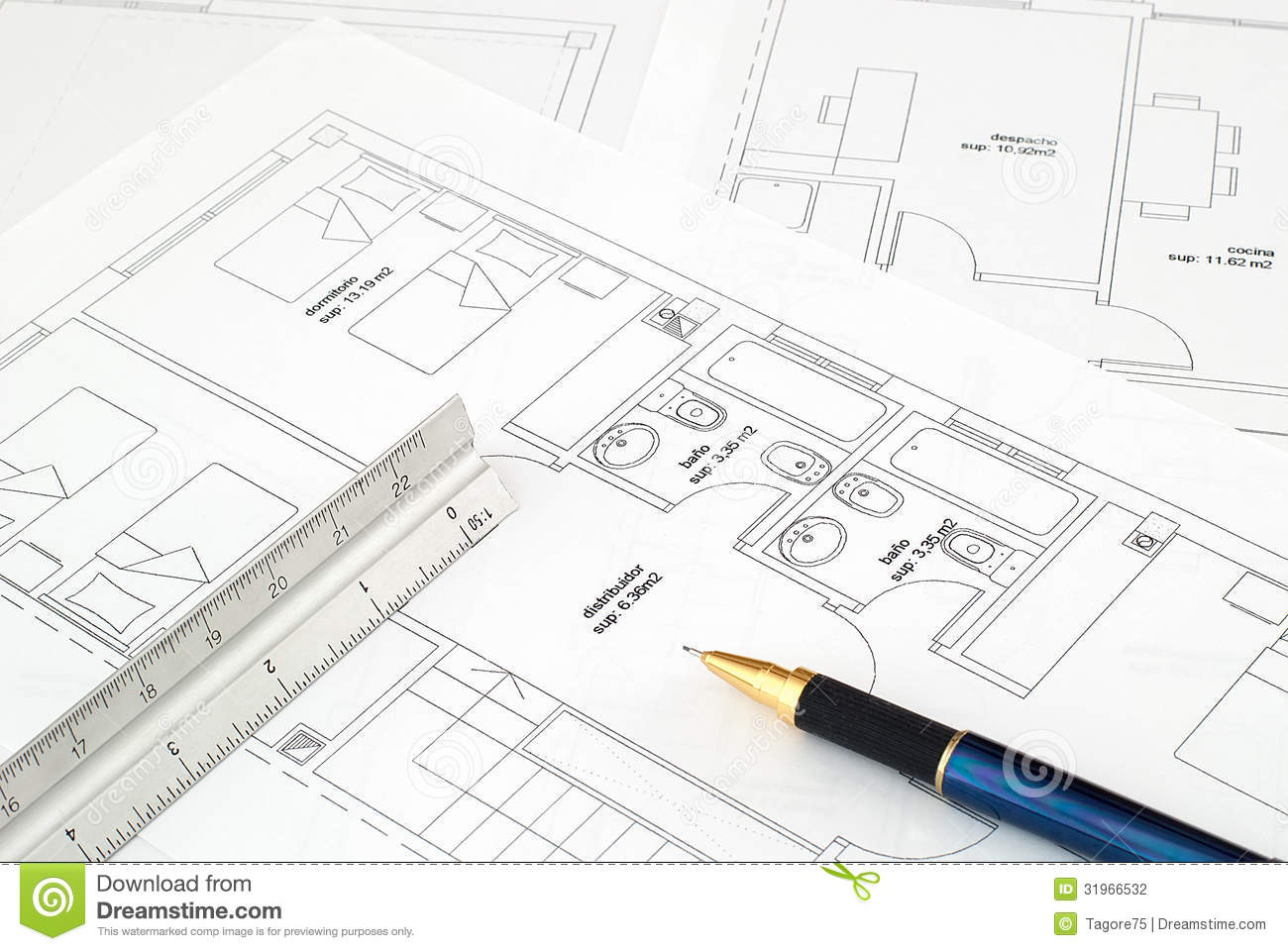 Blueprint stock photography image 31966532 for Blueprint scale