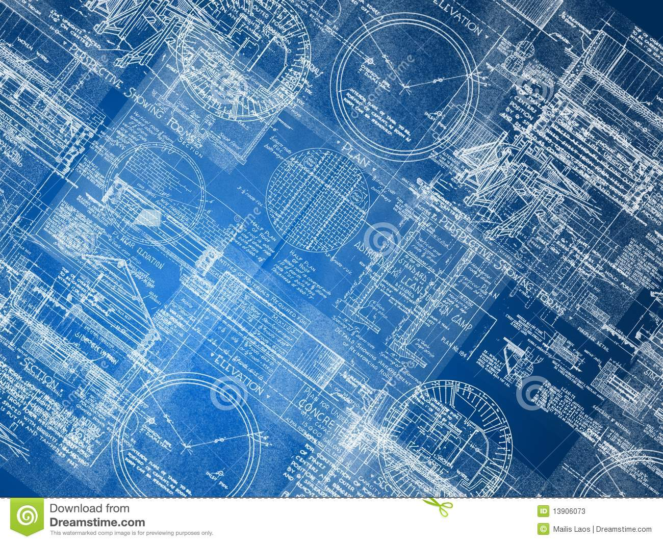Blueprint Background Stock Photos - Image: 13906073