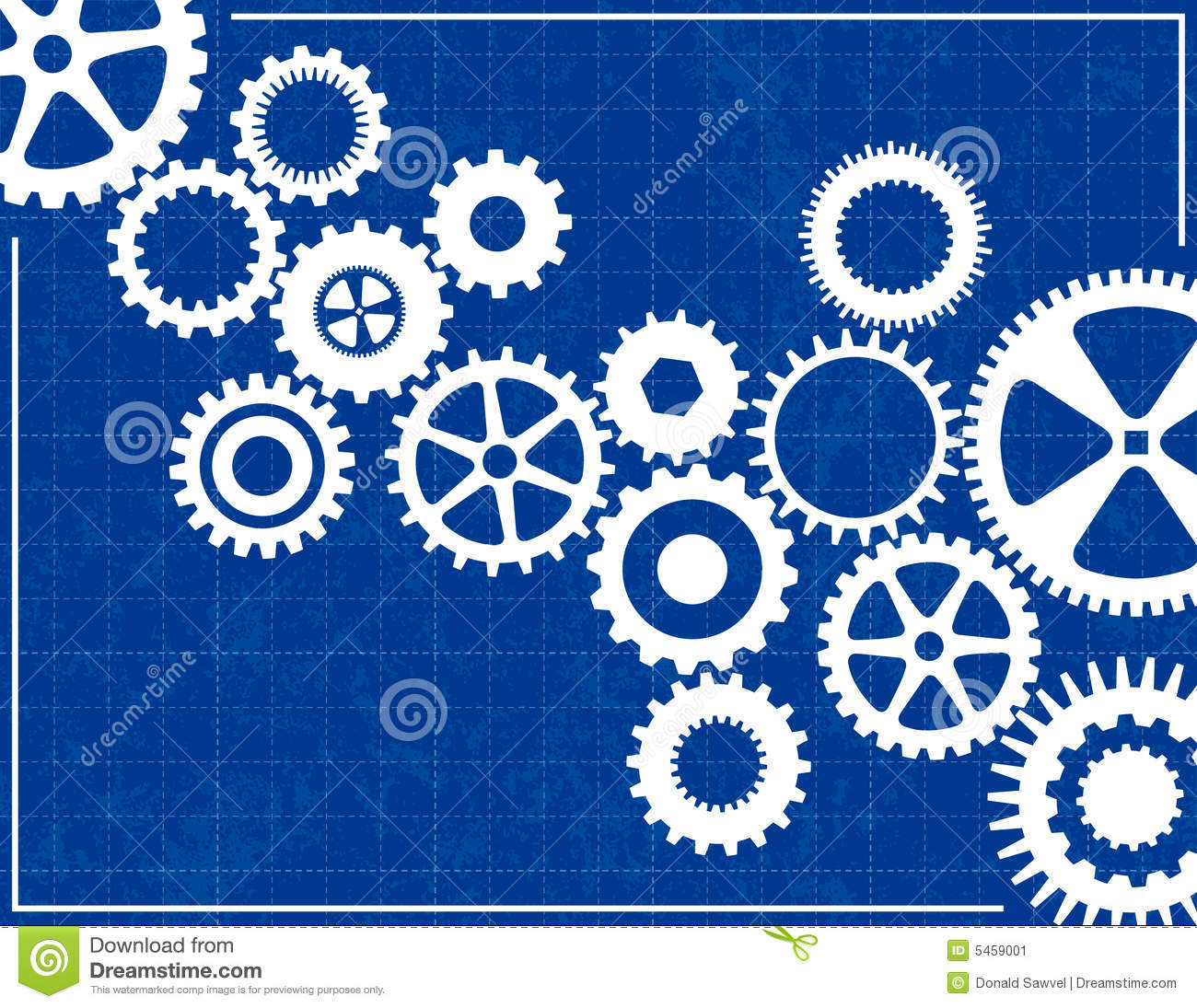 Blueprint background with cogs stock vector illustration of blueprint background with cogs malvernweather Image collections