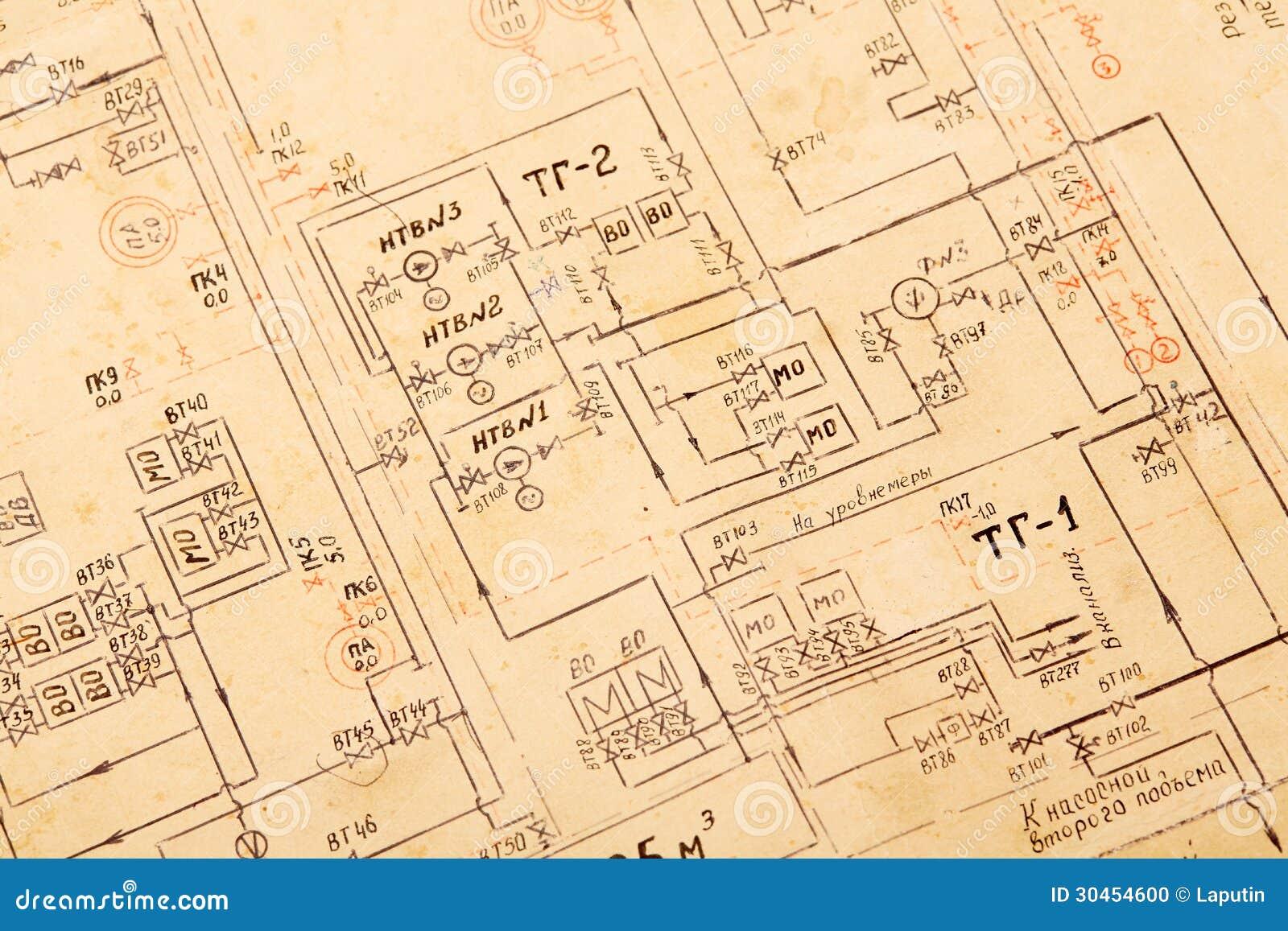 Blueprint background stock photo image of industry nobody 30454600 blueprint background malvernweather Images