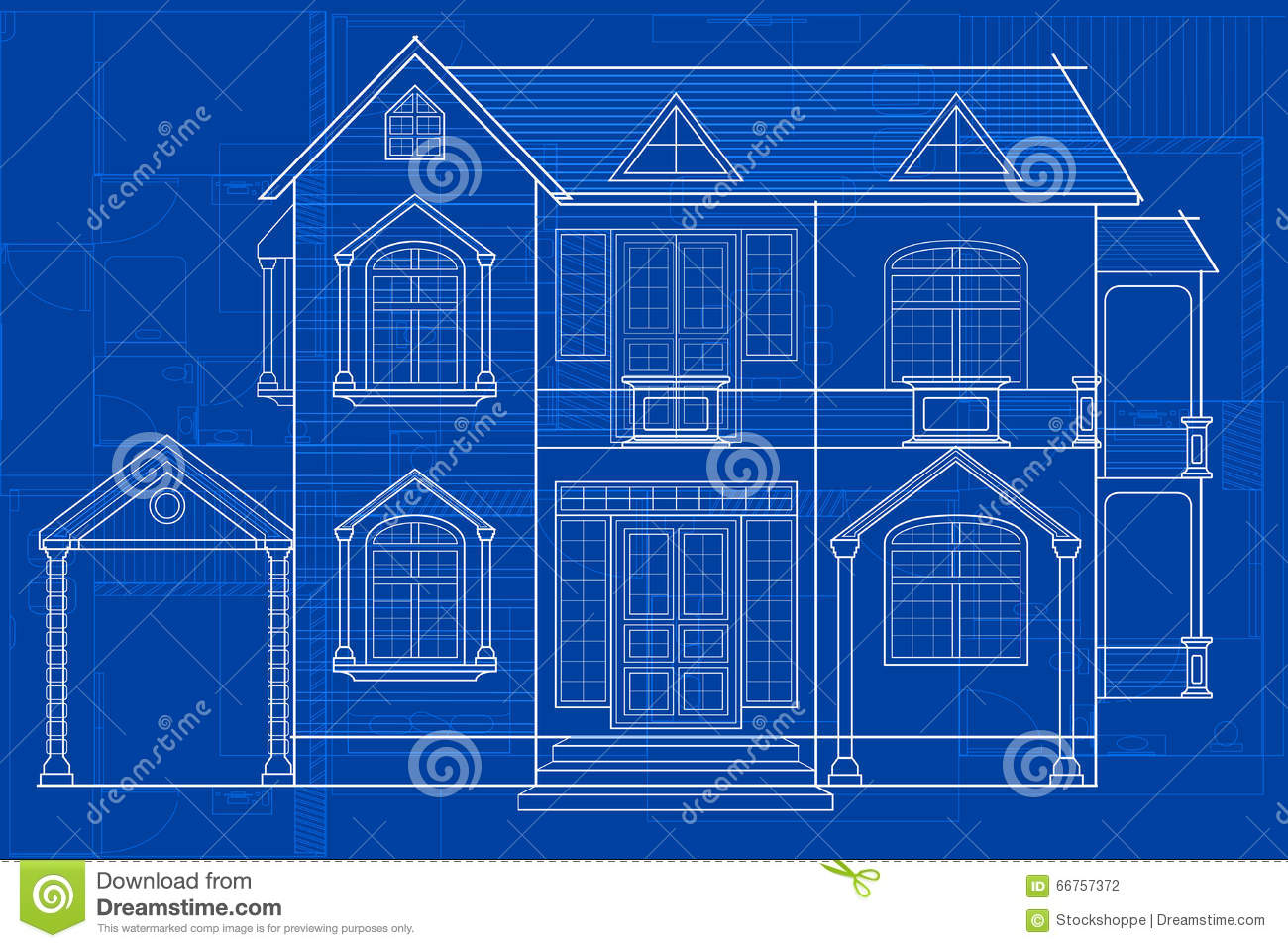 Blueprint of building stock vector image 66757372 for How to build a blueprint