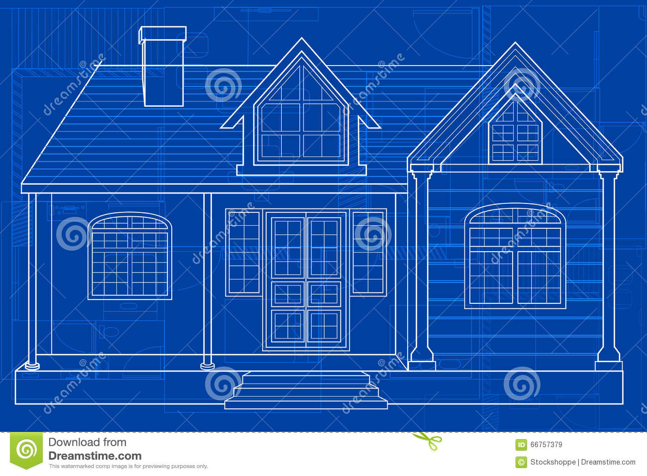Blueprint of building stock vector illustration of development blueprint of building development background malvernweather Choice Image