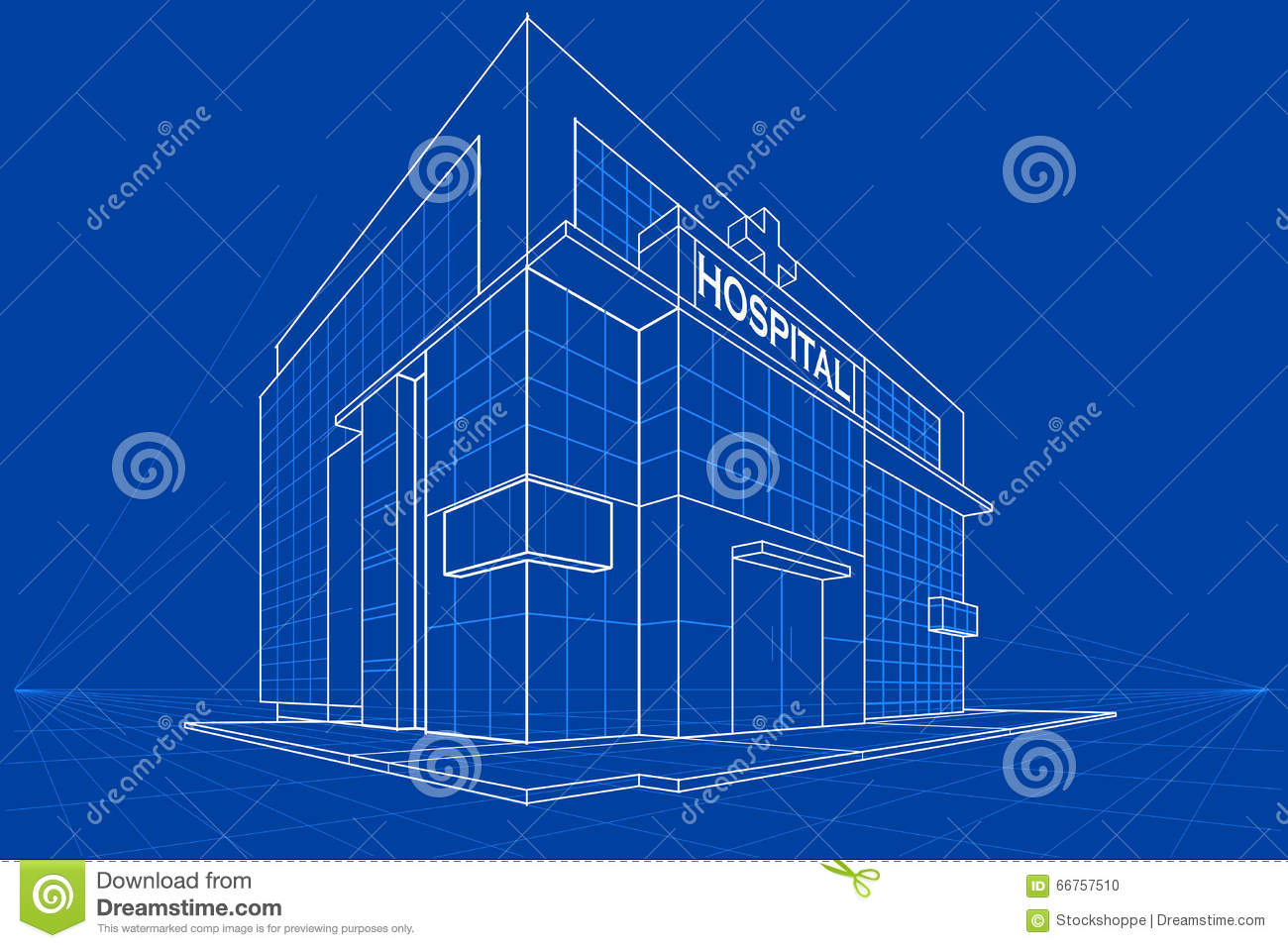 Blueprint of building stock vector image 66757510 for Blueprint builder free