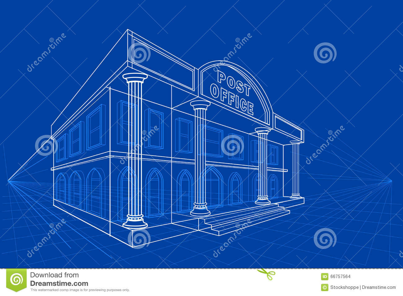 Blueprint of building stock vector illustration of diagram 66757564 blueprint of building diagram drawing malvernweather Image collections