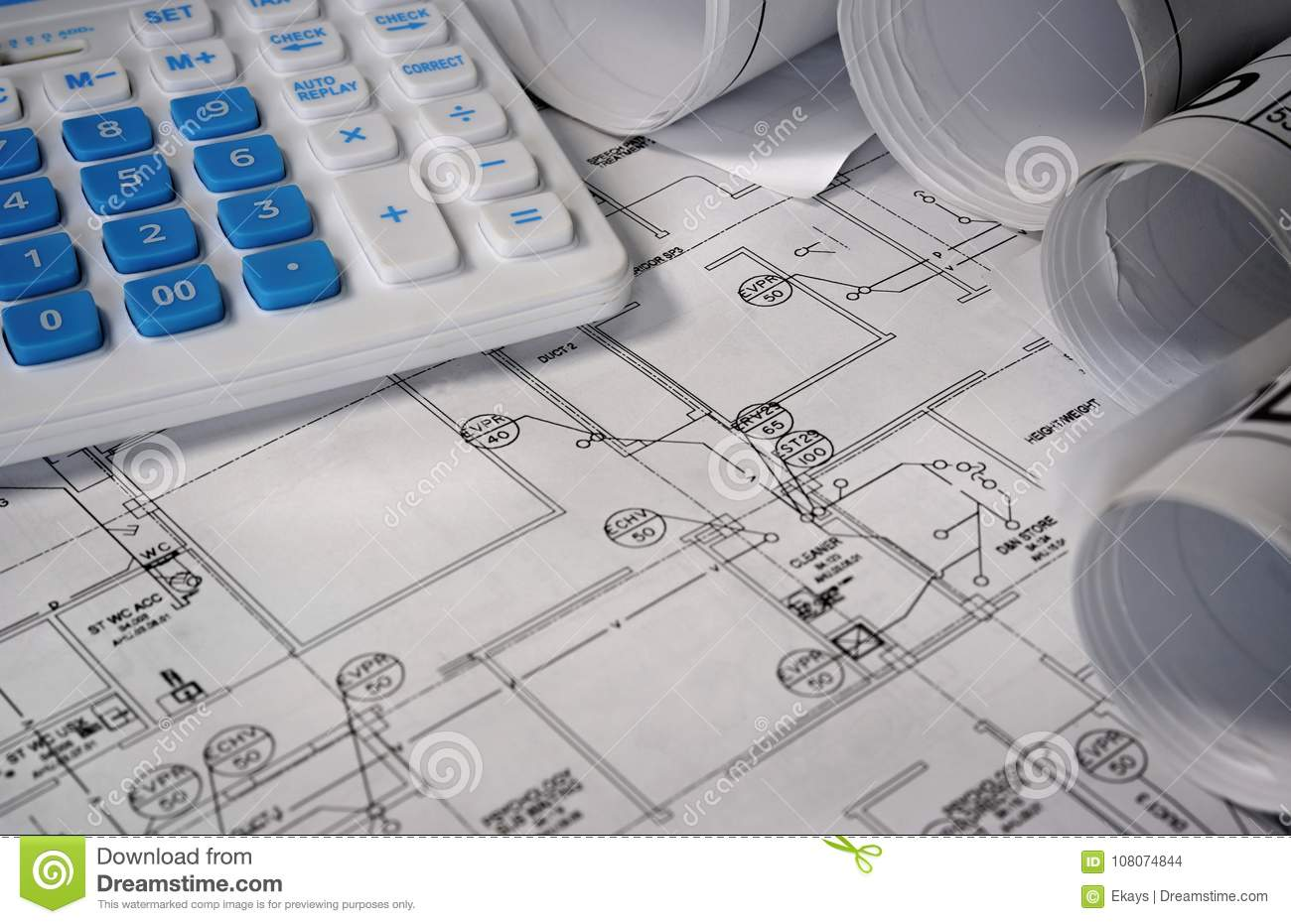 Blueprint building plan with calculator stock photo image of print download blueprint building plan with calculator stock photo image of print design 108074844 malvernweather Gallery