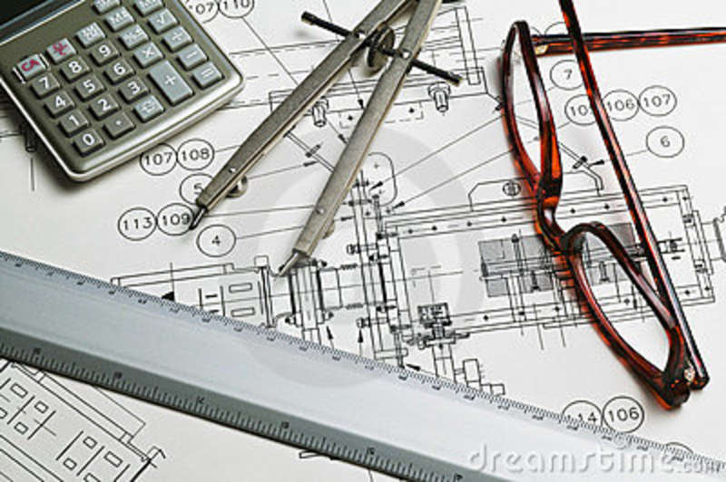 Blueprint calculator ruler compass royalty free stock for Blueprint estimator