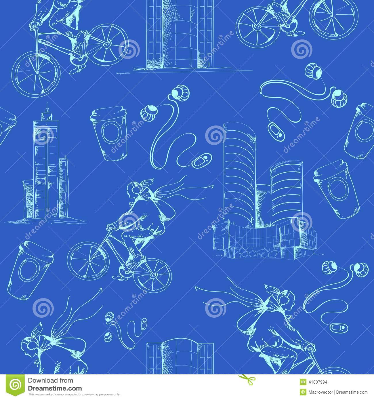 Blueprint city seamless pattern stock vector illustration of blueprint city seamless pattern malvernweather