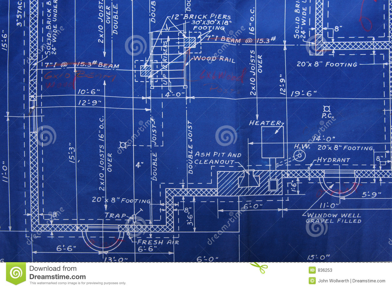 Blueprint detail stock image image of dimension build for How to find blueprints of a house