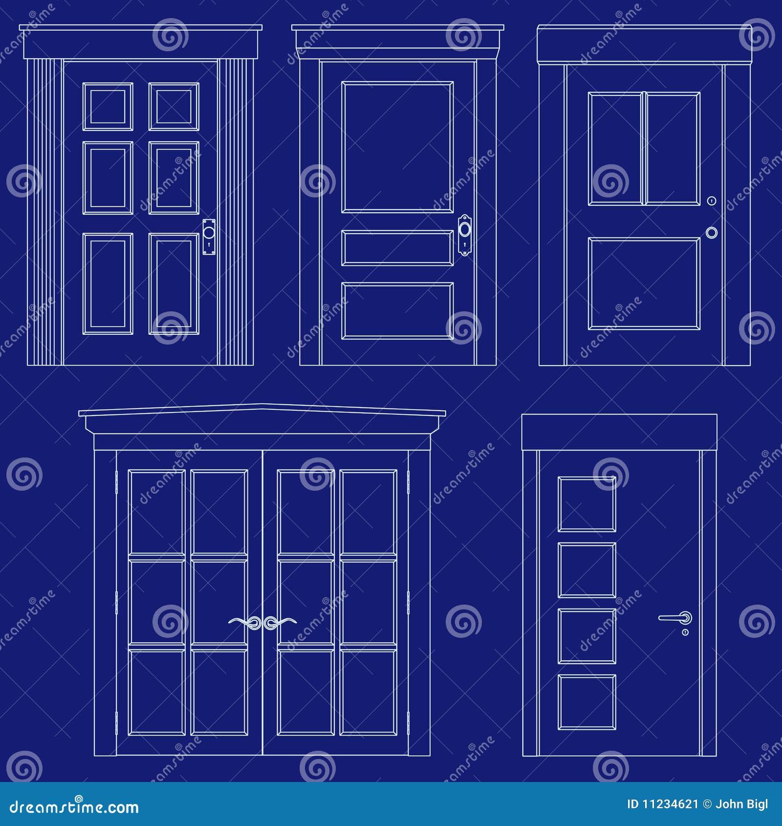 Blueprint Door Illustrations Stock Image Image 11234621