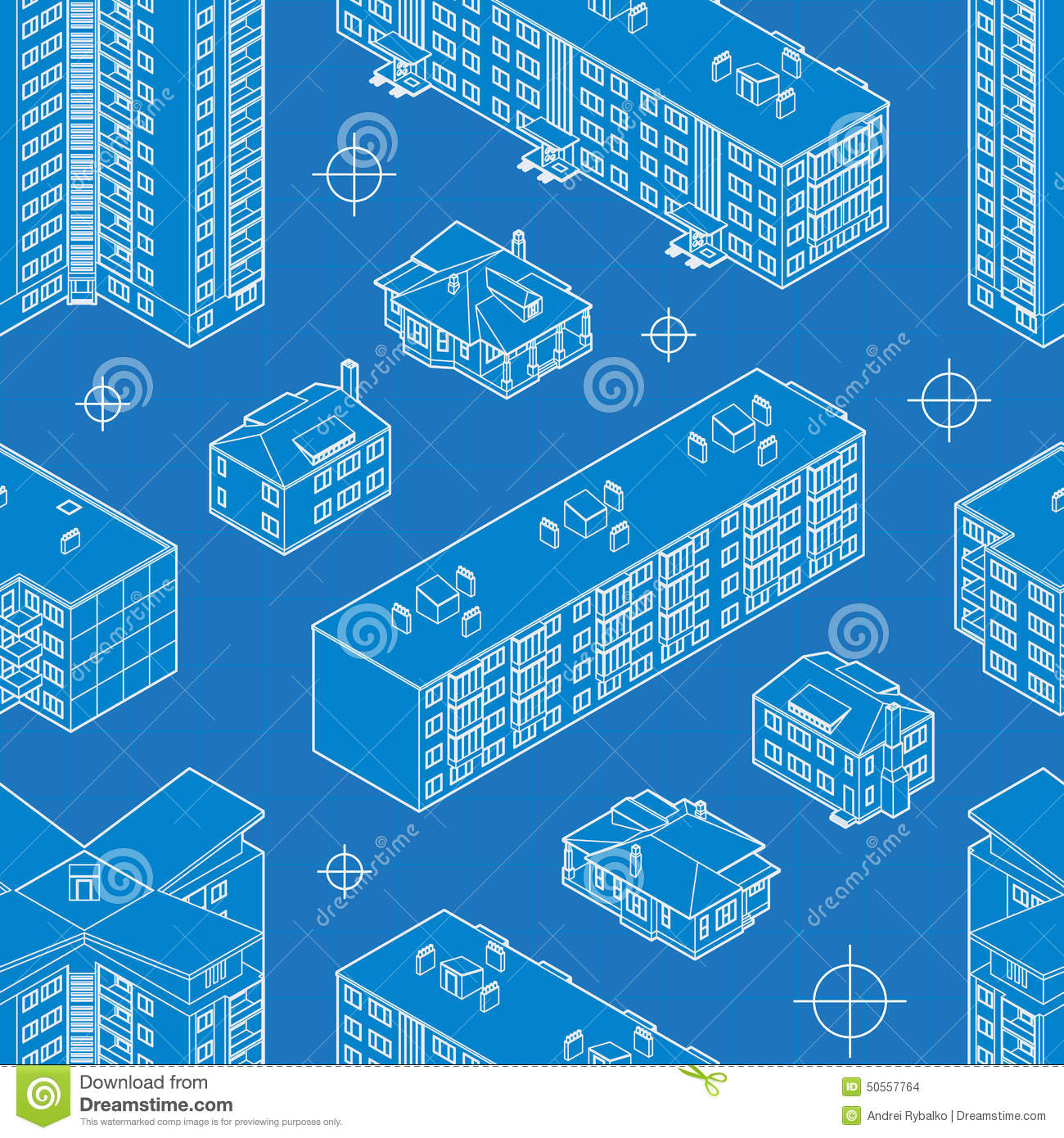 Blueprint dwelling buildings seamless pattern stock vector blueprint dwelling buildings seamless pattern malvernweather Images