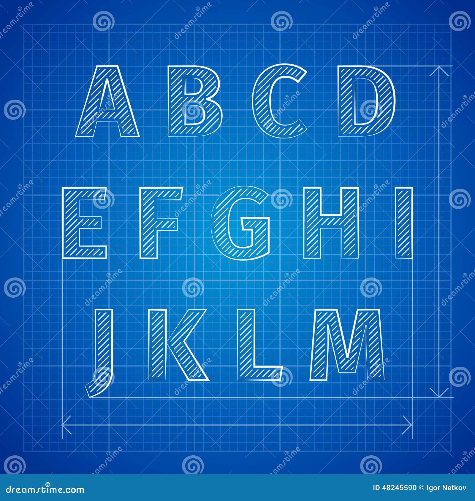 Blueprint template free free seamless blueprint pattern psd blueprint font stock vector image 48245590 malvernweather Choice Image