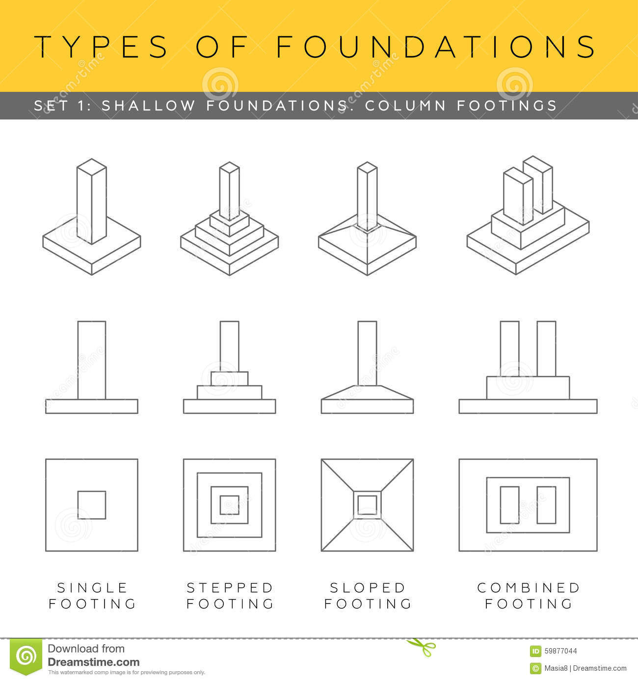 Blueprint Foundations Stock Illustration Image 59877044