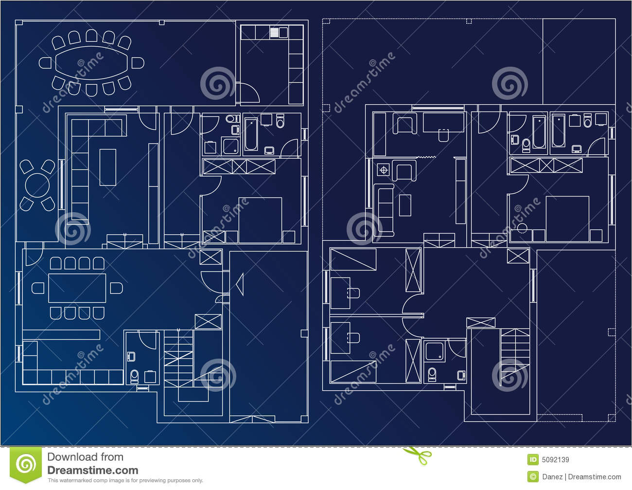 Blueprint home stock illustration image of home for Blueprint home plans