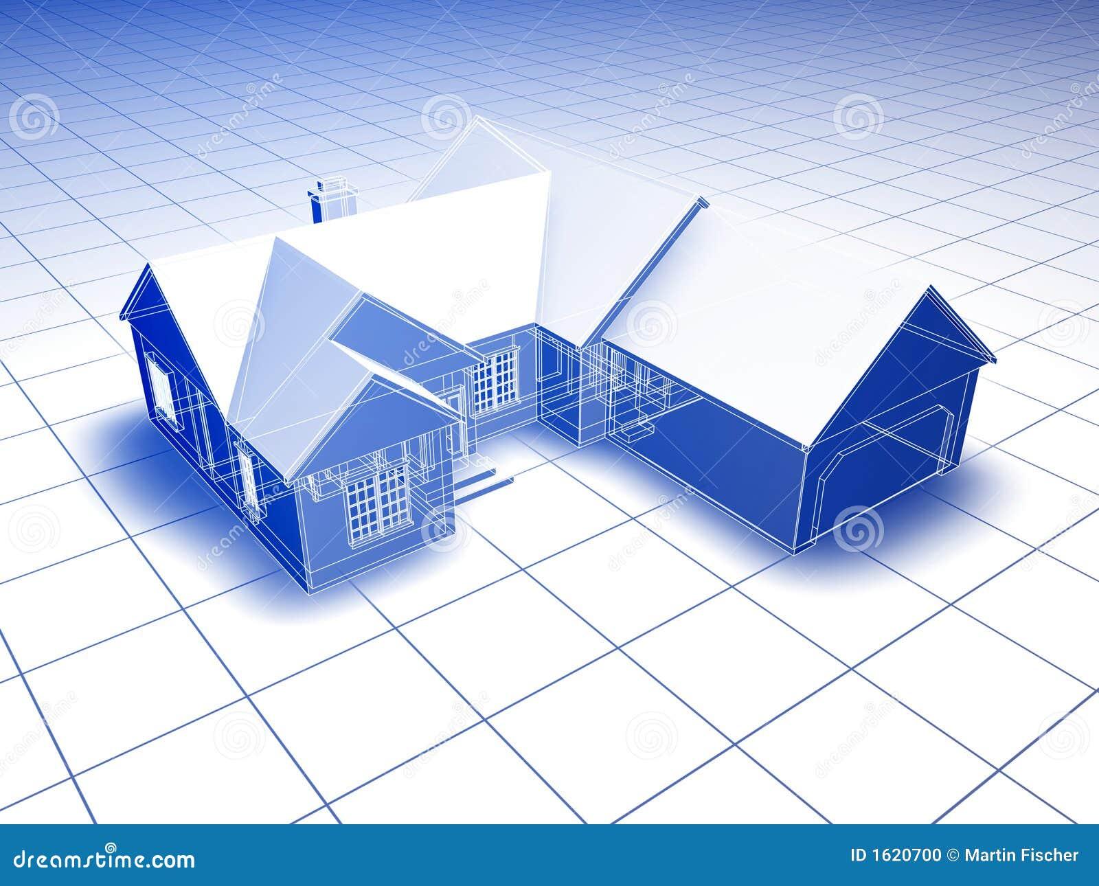 Blueprint House Stock Photo Image 1620700