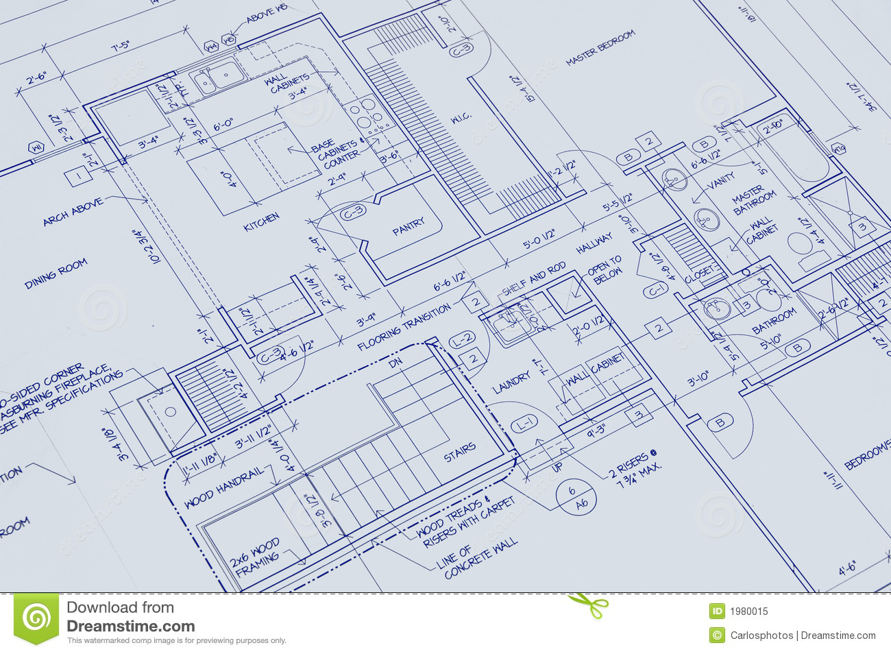 Blueprint of a house royalty free stock photo image 1980015 for House blueprint images