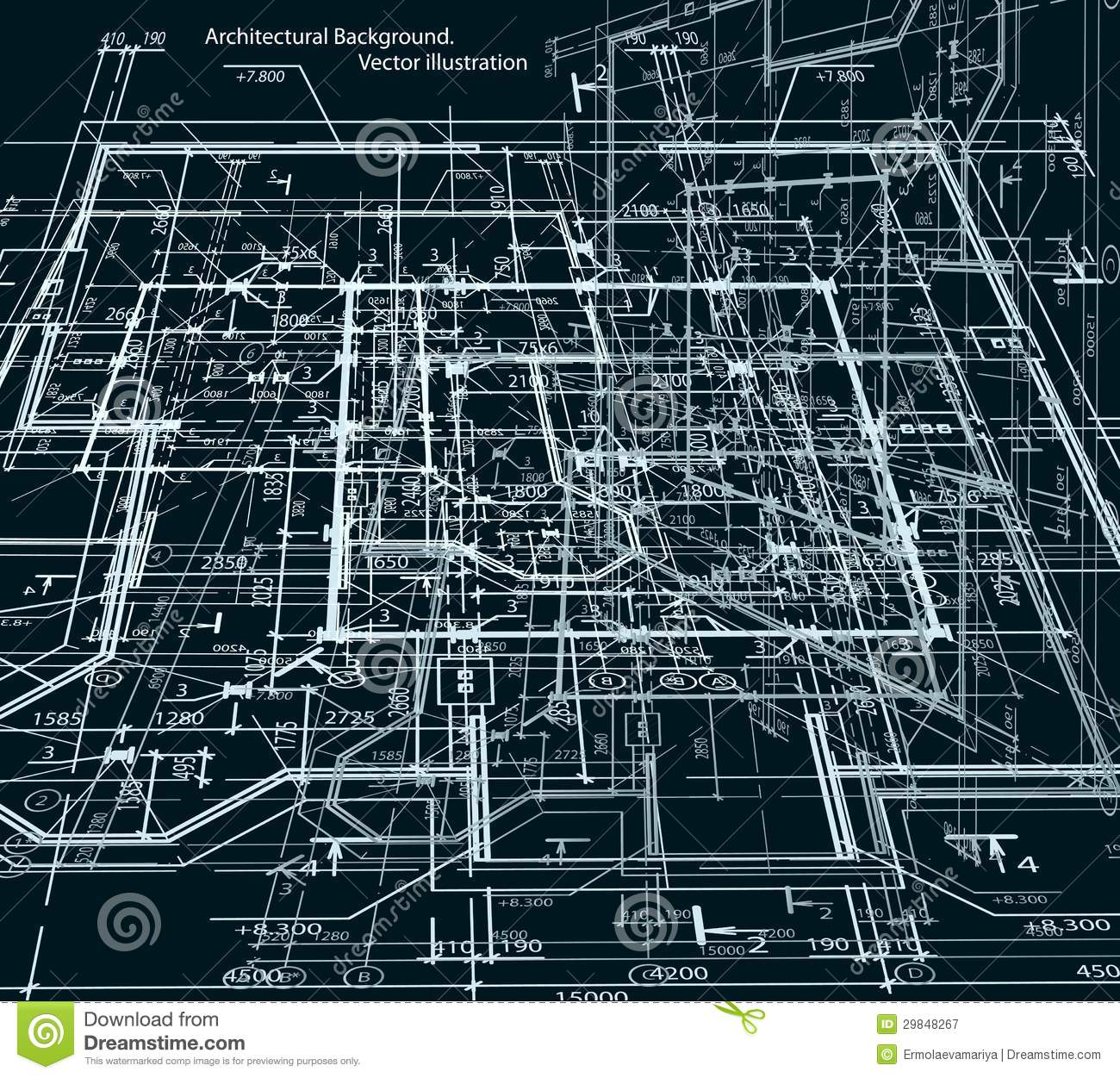 Blueprint Abstract Dark Background Vector Royalty Free Stock Photography Image 29848267